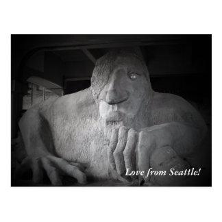 Seattle Fremont Troll Postcard