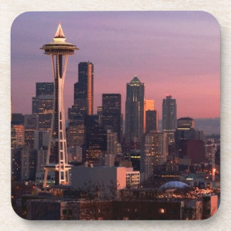 Seattle from Kerry Park. Beverage Coaster