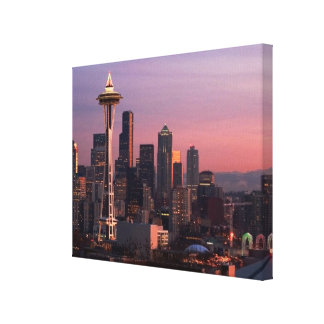 Seattle from Kerry Park. Stretched Canvas Print
