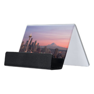Seattle from Kerry Park. Desk Business Card Holder