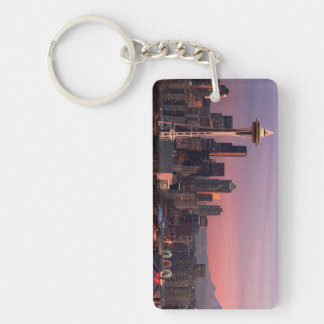 Seattle from Kerry Park. Rectangular Acrylic Keychain