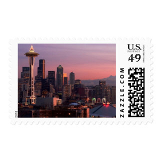 Seattle from Kerry Park. Postage Stamp