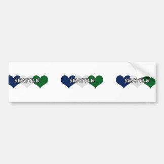 Seattle Heart Bumper Sticker
