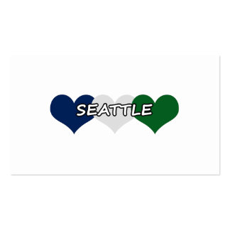 Seattle Heart Business Card Templates