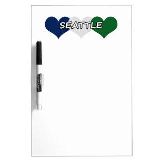 Seattle Heart Dry-Erase Board