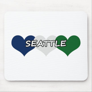Seattle Heart Mouse Pad