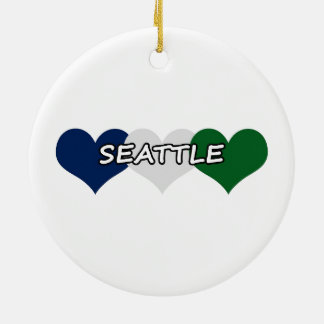Seattle Heart Christmas Ornaments