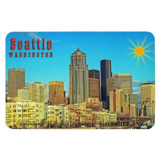 Seattle Imán Foto Rectangular