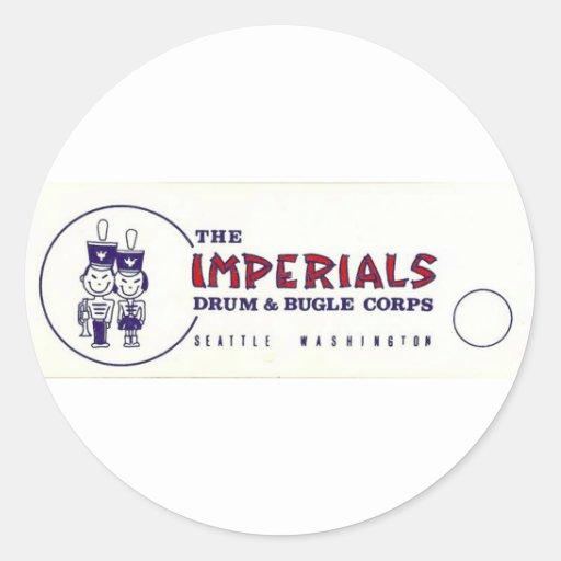 Seattle Imperials Pegatina Redonda