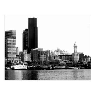 Seattle in B&W Postcard