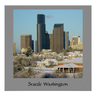 Seattle in Winter Posters