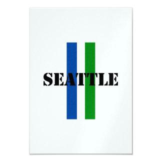 """Seattle Invitación 3.5"""" X 5"""""""