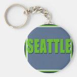 Seattle Keychain (neon green)