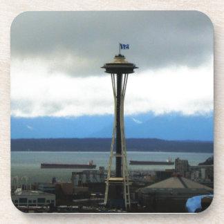 Seattle Landmark with Football Team Spirit Coasters