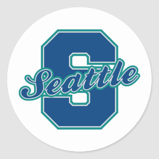 Seattle Letter Classic Round Sticker