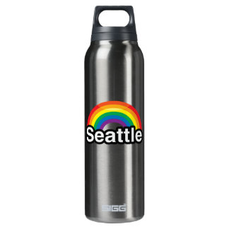 SEATTLE LGBT PRIDE RAINBOW SIGG THERMO 0.5L INSULATED BOTTLE