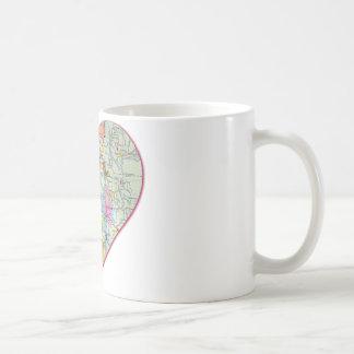 Seattle Map Heart Classic White Coffee Mug