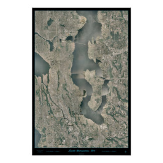 Seattle Washington Map Posters Zazzle