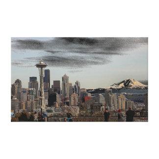 Seattle mirrored canvas print