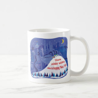 Seattle, Mount Rainier Holiday card Coffee Mug