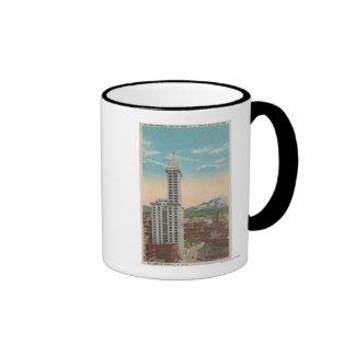 Seattle, opinión de la torre de WASmith y el Monte Tazas De Café