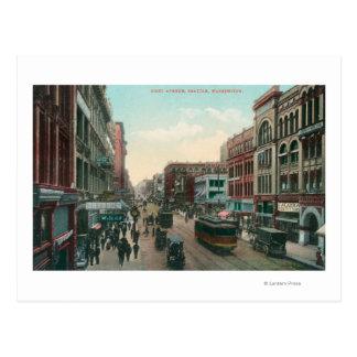 Seattle, opinión de WashingtonAerial de la primera Tarjetas Postales