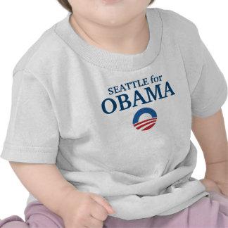 SEATTLE para el personalizado de Obama su ciudad p Camiseta