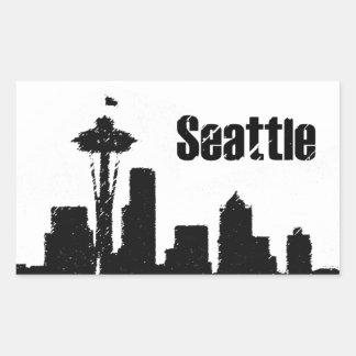 Seattle Pegatina Rectangular