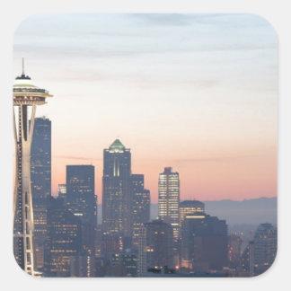 Seattle Pegatina Cuadrada