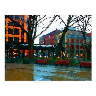 seattle  pioneer square postcard