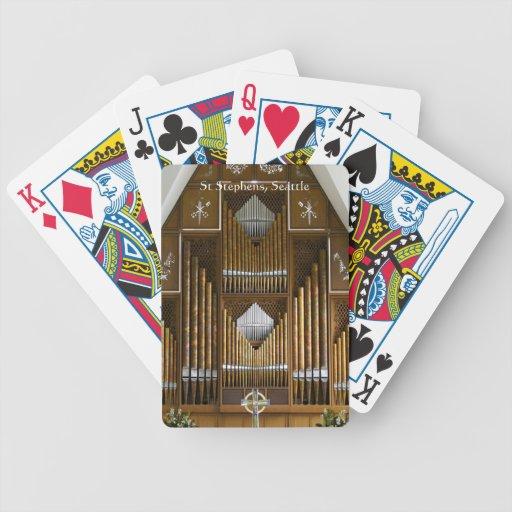 Seattle pipe organ playing cards