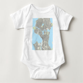 Seattle Playing Cards Baby Bodysuit