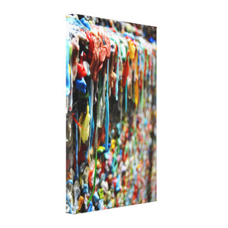 Seattle Post Alley Gum Wall Canvas Print