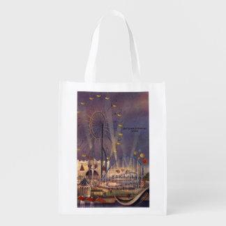 Seattle, poster de la feria de mundo bolsas para la compra