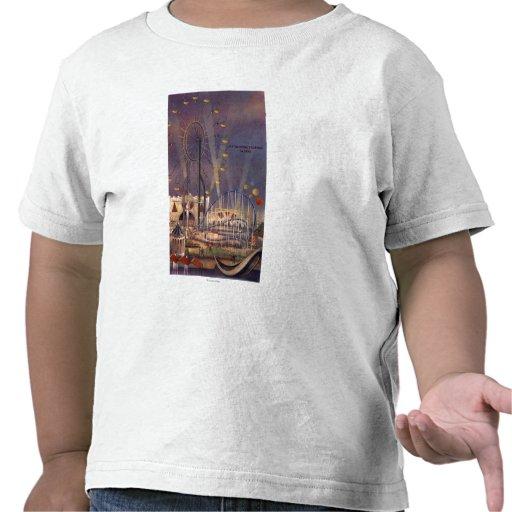 Seattle, poster de la feria de mundo camisetas
