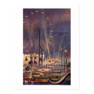Seattle, poster de la feria de mundo tarjetas postales