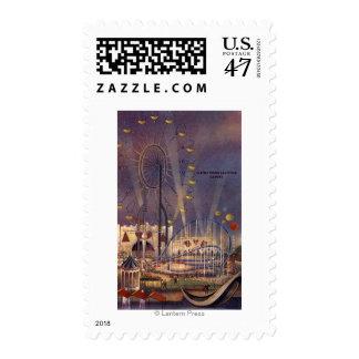 Seattle, poster de la feria de mundo timbres postales