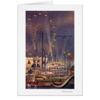 Seattle, poster de la feria de mundo Washington196 Tarjeta De Felicitación