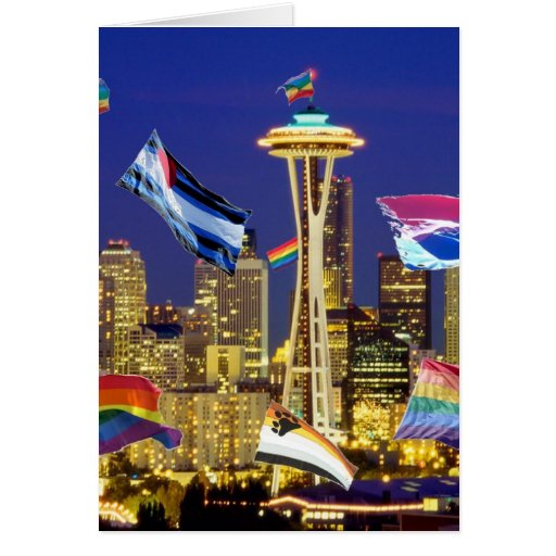 Seattle Pride Greeting Cards