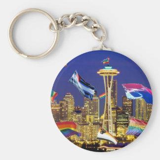 Seattle Pride Keychain