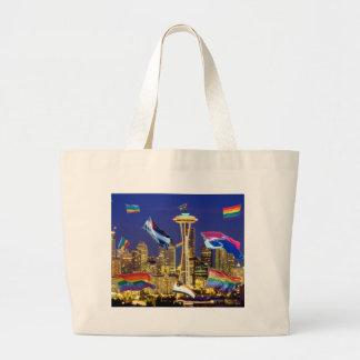 Seattle Pride Large Tote Bag
