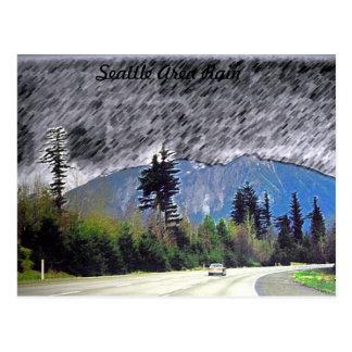 Seattle Rain Postcard