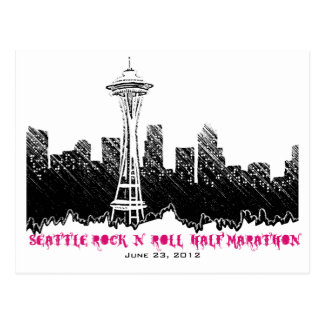 Seattle Rock n Roll Half Marathon 2012 Postcard