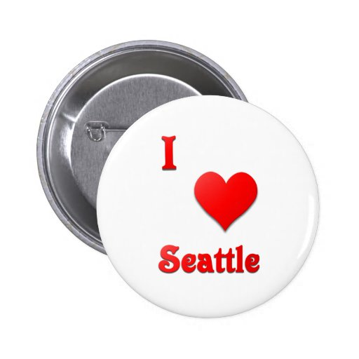 Seattle -- Rojo Pin Redondo 5 Cm
