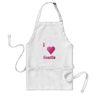 Seattle -- Rosas fuertes Delantal