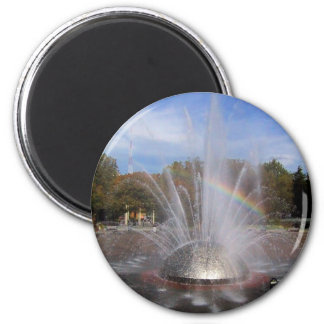 Seattle Science Center Fountain 2 Inch Round Magnet