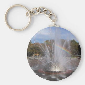 Seattle Science Center Fountain Basic Round Button Keychain