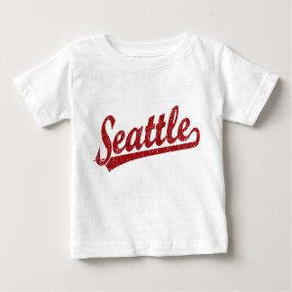 Seattle script logo in red baby T-Shirt