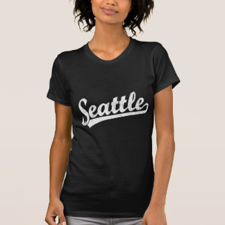 Seattle script logo in white T-Shirt