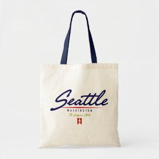 Seattle Script Tote Bag